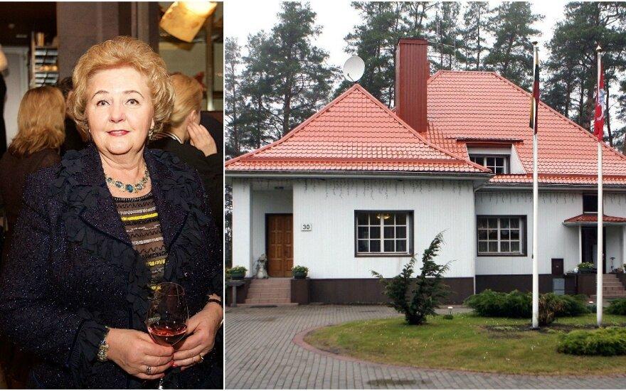 Вдова Бразаускаса и канцелярия президента судятся за резиденцию