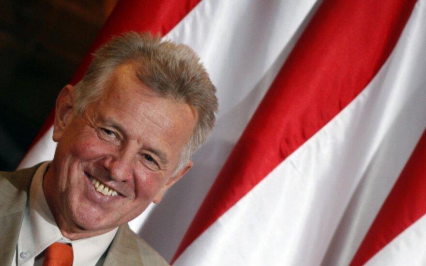 Vengrijos parlamento pirmininkas Palas Schmittas siūlomas į prezidentus.