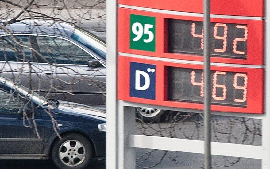 Цены на горючее в Вильнюсе колебались