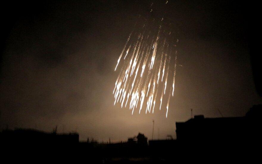 2018 m. kovo 23 dieną užfiksuota Sirijos režimo pajegų ataka Baltojo fosforo užtaisais Rytų Gutoje