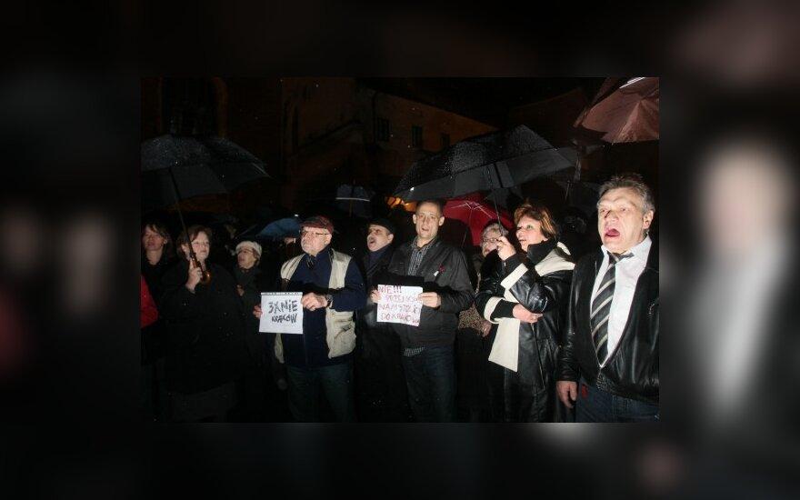 В Кракове – против похорон Качиньского в Вавельском замке