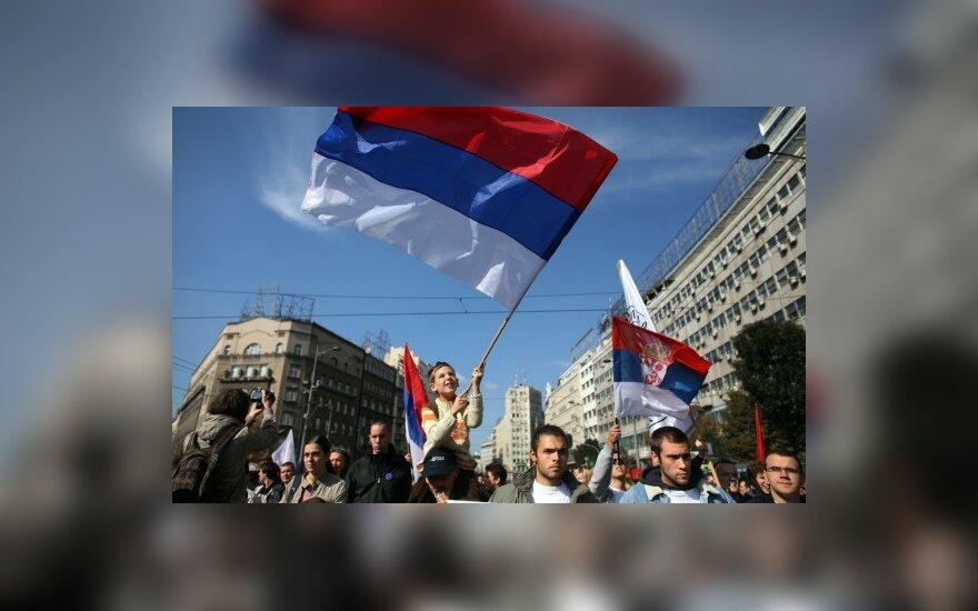 Serbijos homoseksualų parado priešininkai