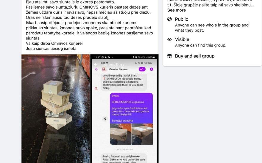 Курьез: житель Вильнюса нашел на улице брошенные курьером посылки и позаботился об их доставке