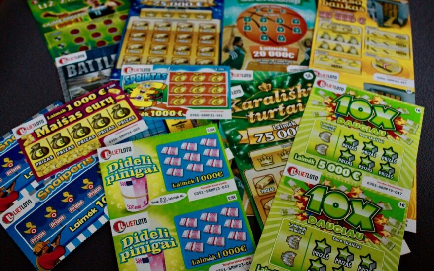 Momentinės loterijos bilietai