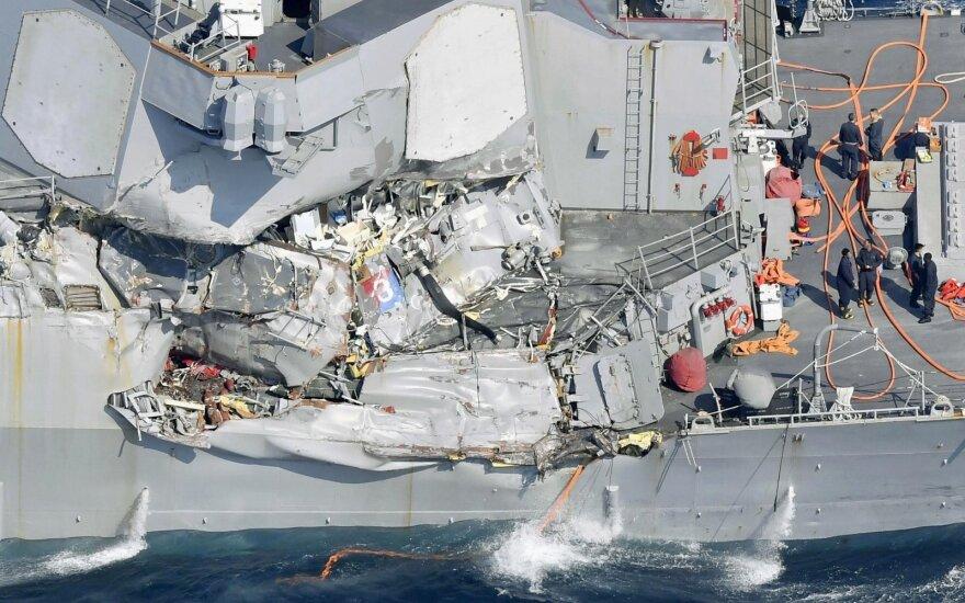 В затопленных отсеках эсминца Fitzgerald нашли тела семерых пропавших моряков