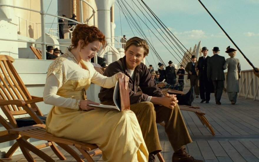 "Leonardo DiCaprio ir Kate Winslet filme ""Titanikas"" (""Titanic"")"