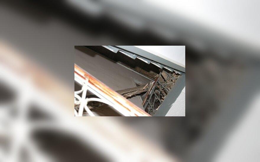 Vilniuje name įgriuvo lubos