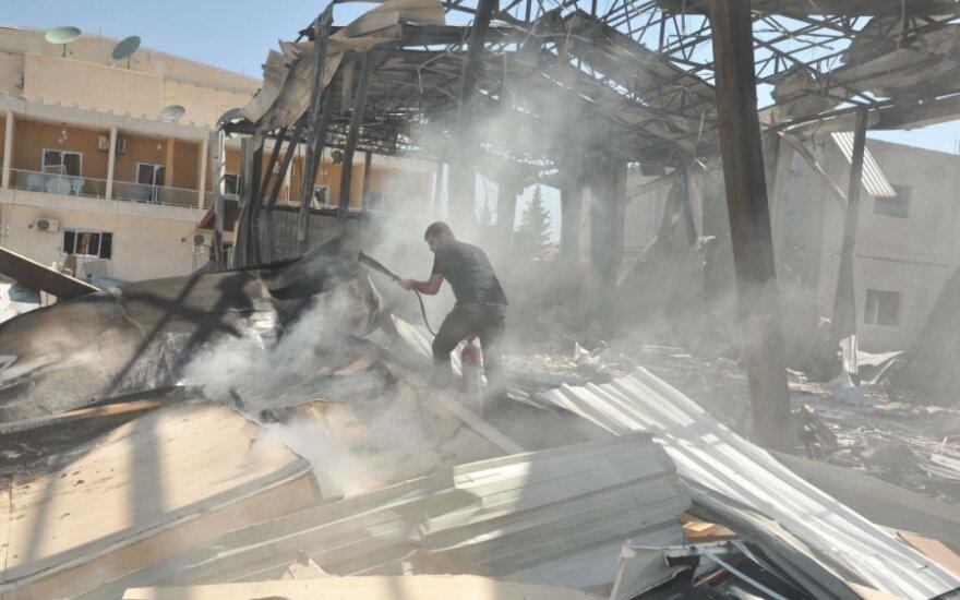 Sirijoje susprogdintas televizijos pastatas