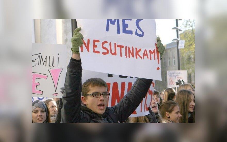 Studentų protesto akcija Kaune