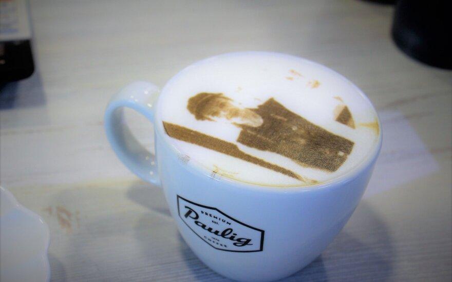 В Паланге можно заказать кофе со своим портретом