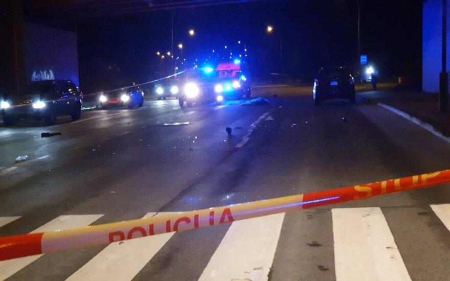 В Вильнюсе автомобиль сбил мужчину, пострадавший скончался