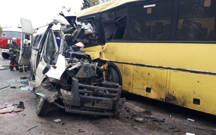 В Тверской области столкнулись автобус и маршрутное такси