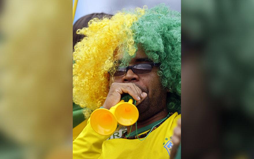 Brazilų fulbolo komandos sirgalius