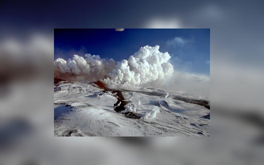 Вулкан на Камчатке выбросил пепел на высоту 4 км