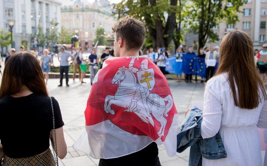 """""""Путь в свободную Беларусь"""": участники акции в Вильнюсе требовали отпустить белорусских политзаключенных"""