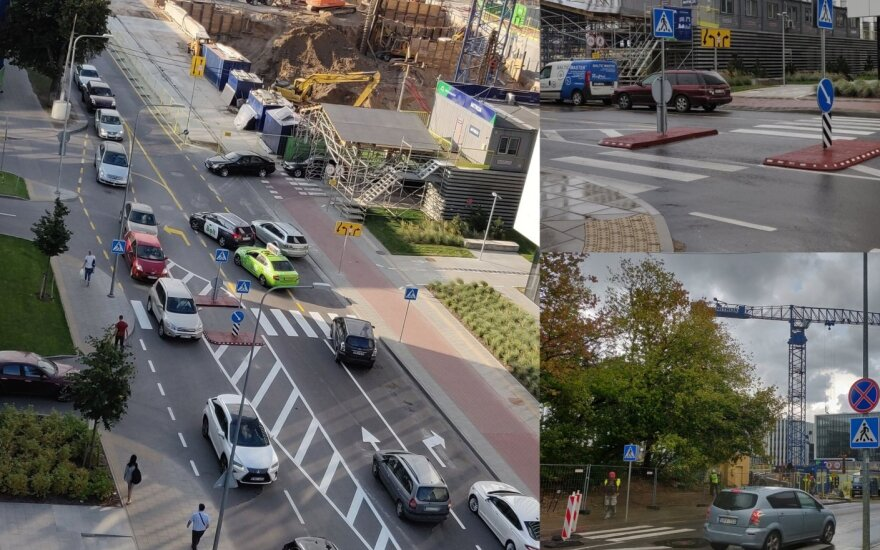 Nauja eismo tvarka Pieninės gatvėje nustebino vilniečius