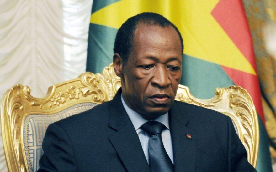 Burkina Faso prezidentas Blaise'as Compaore