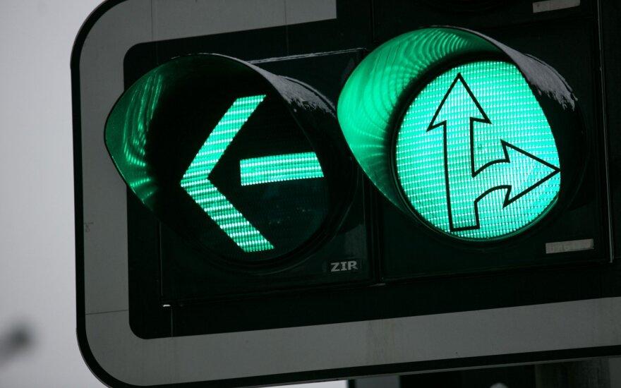 Предлагают новшество в Литве: зеленый сигнал светофора не будет мигать