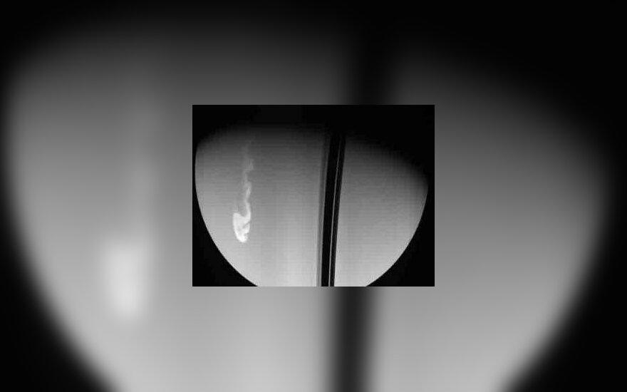 Шторм на Сатурне. Фото NASA/JPL/Space Science Institute