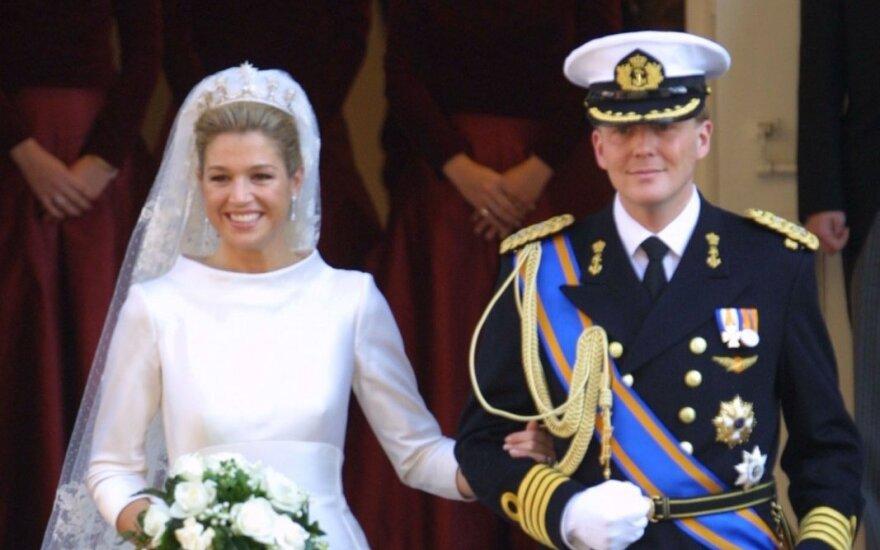 Nyderlandų karalius Willem Alexander ir karalienė Maxima, susituokė 2002 metais.