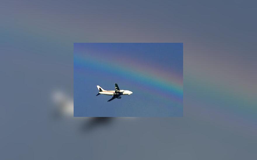 Lėktuvas, vaivorykštė