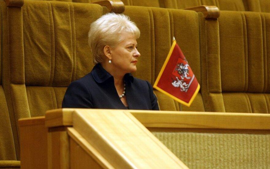 Грибаускайте: утверждение Литвы не является конечным процессом