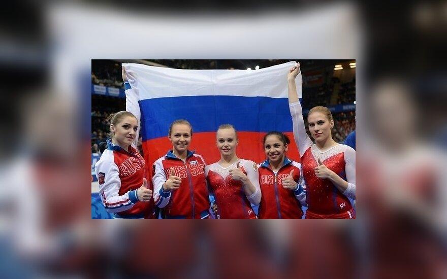 Российские гимнастки выиграли чемпионат Европы в командном первенстве