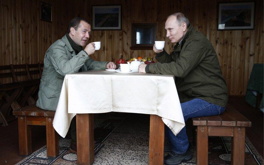Путин и Медведев отчитались о доходах