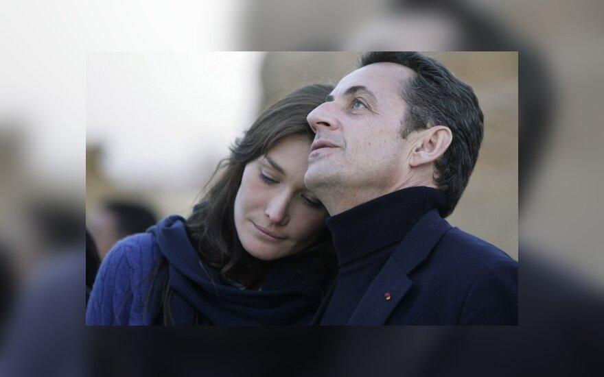 Nicolas Sarkozy su žmona Carla Bruni