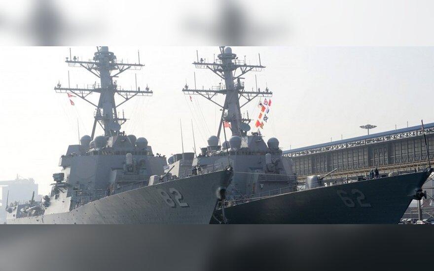 """JAV laivai """"USS Lassen"""" ir """"USS Fitzgerald"""