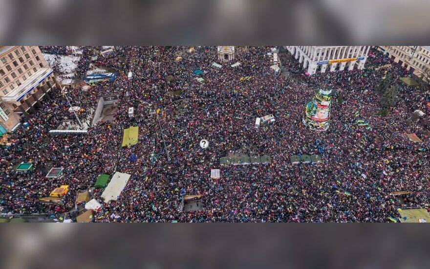 Euromajdan z lotu ptaka