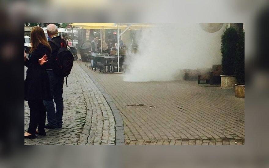 В Старом городе Вильнюса произошел пожар в кафе