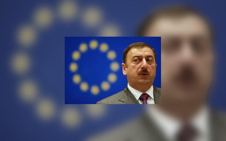 Azerbaidžano Prezidentas Ilham Alijev plenarinio posėdžio metu Europos Konsulate Strasbūre.