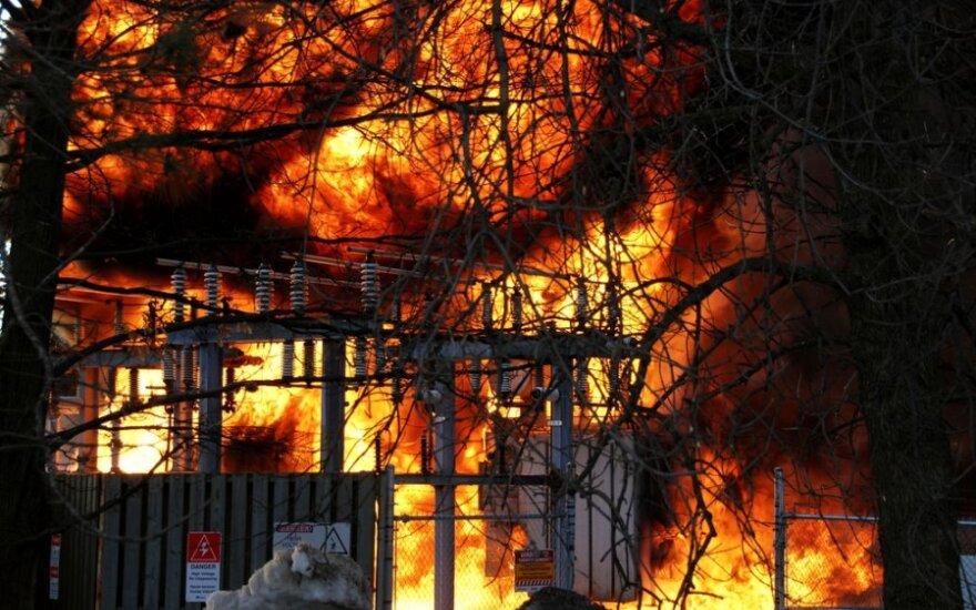 В Рокишкском районе в огне погиб человек