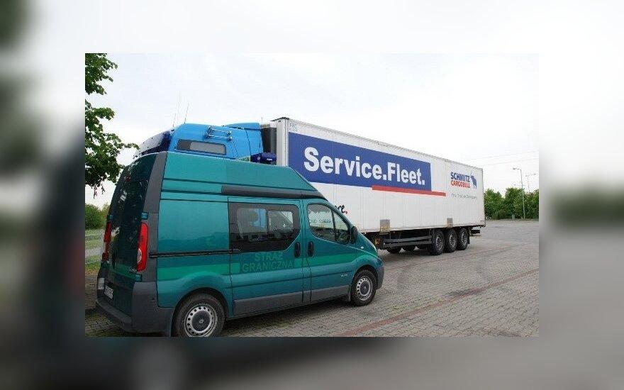 Skradziona ciężarówka. Foto: strazgraniczna.pl