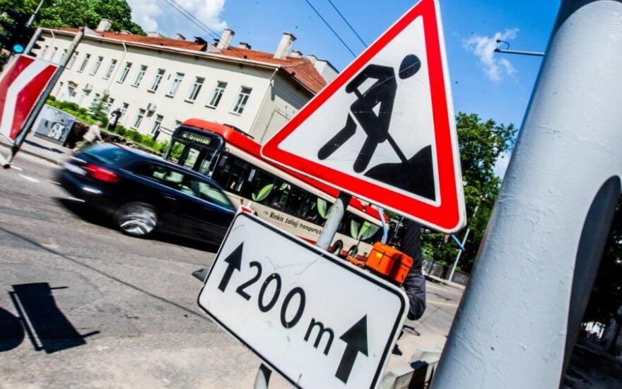 Вильнюсские улицы перекопаны: вильнюсцы стоят в заторах