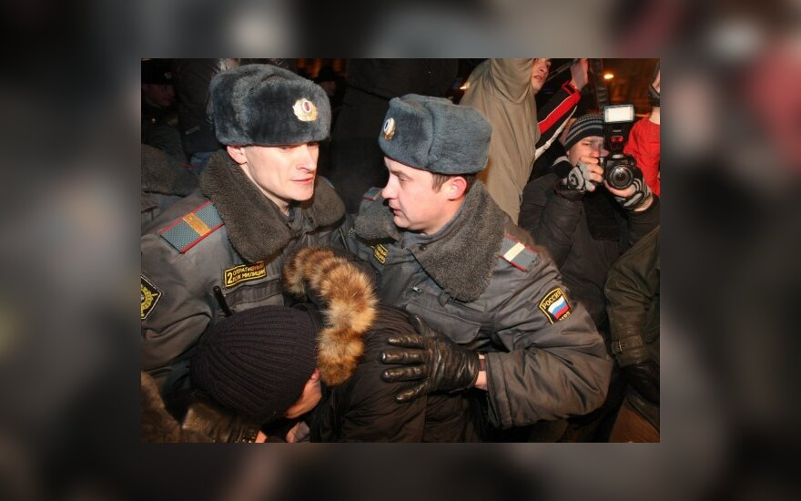 CША и ЕС критикуют задержания демонстрантов в Москве