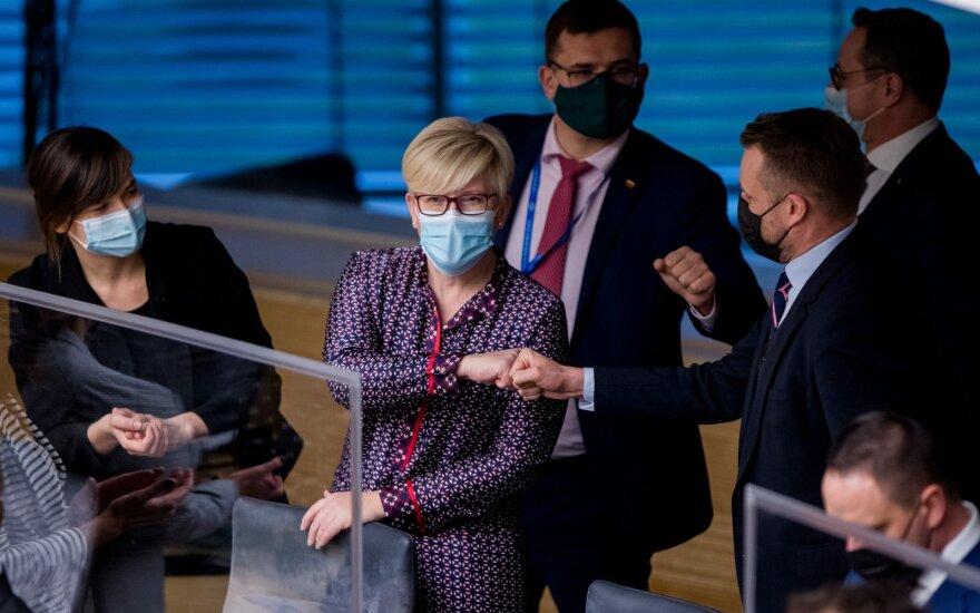 2020 12 11 Ingrida Šimonytė Seime prisiekiant vyriausybei