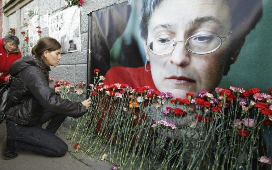Gedulo mitingais pagerbta A.Politkovskaja