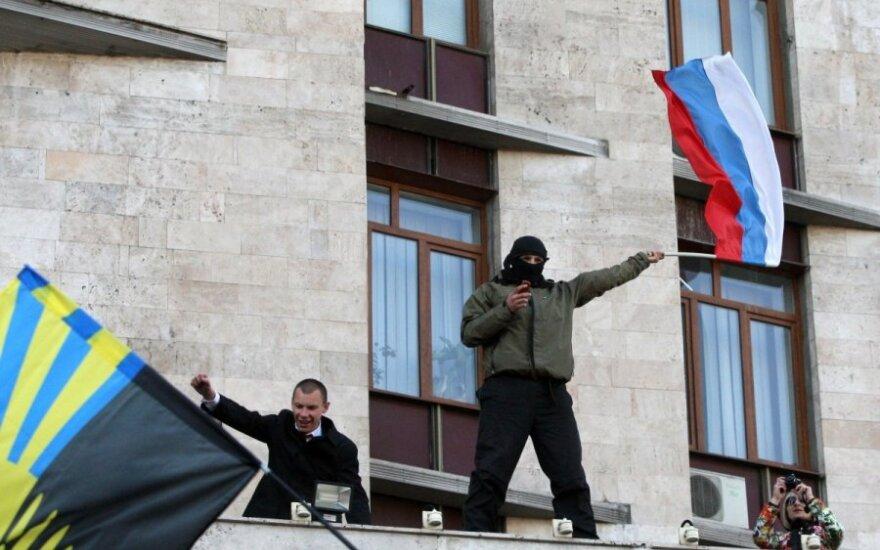Donecke užimtas administracinis pastatas