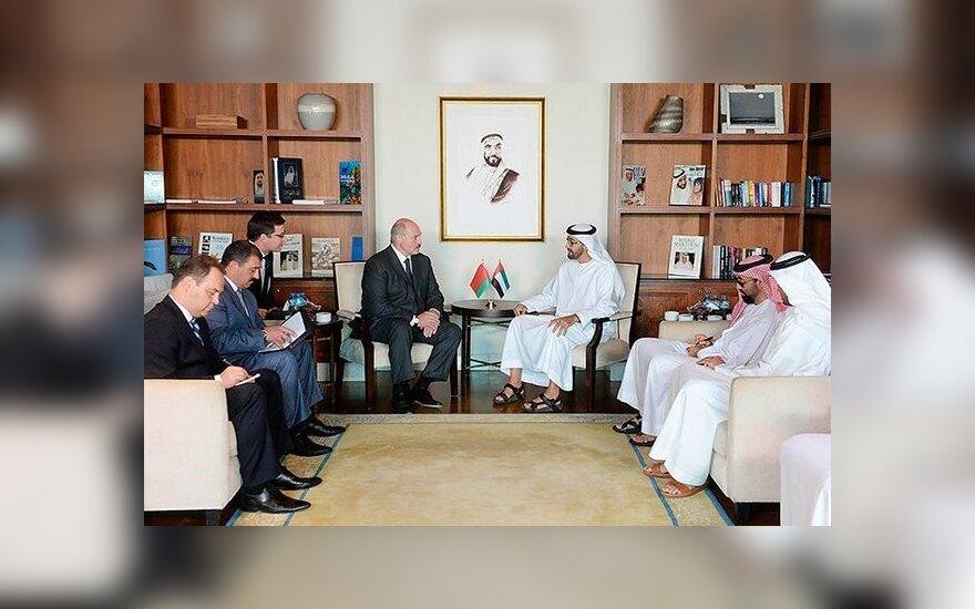 Александр и Виктор Лукашенко встретились с наследным принцем Абу-Даби
