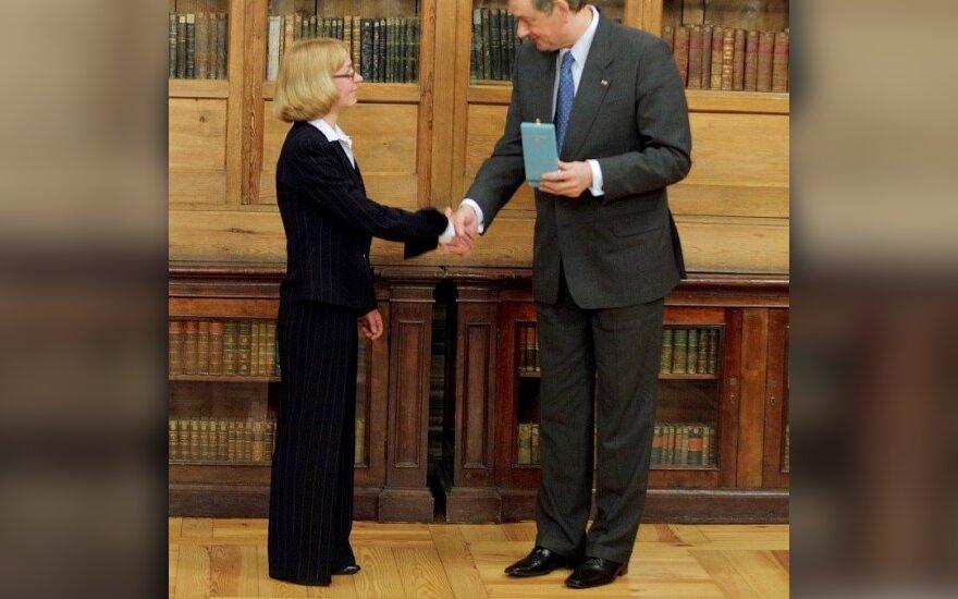 Елена Коницкая и президент Словении Данило Тюрк (фото Rkc.lt)