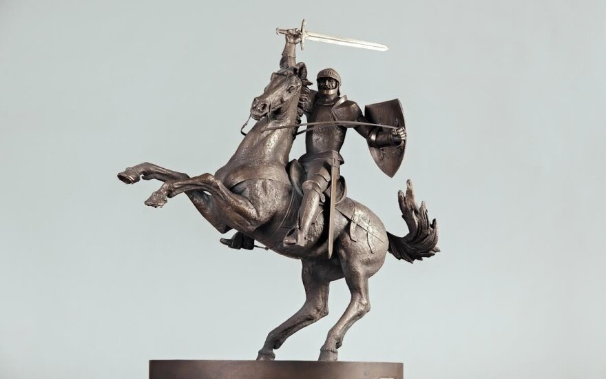 """Arūno Sakalausko Vytis – """"Laisvės kario"""" skulptūra"""