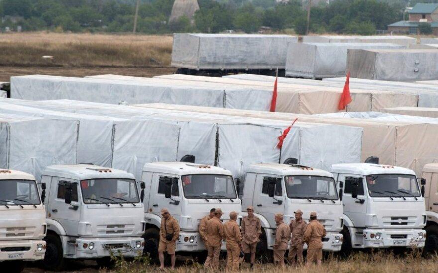 """Украина: """"гуманитарный конвой"""" до сих пор на территории РФ"""