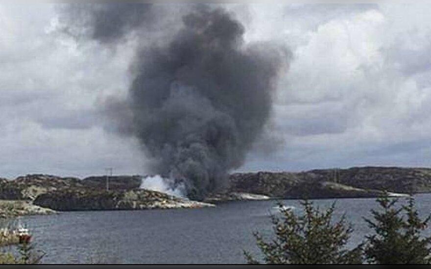 В Норвегии разбился вертолет, на борту было 15 человек