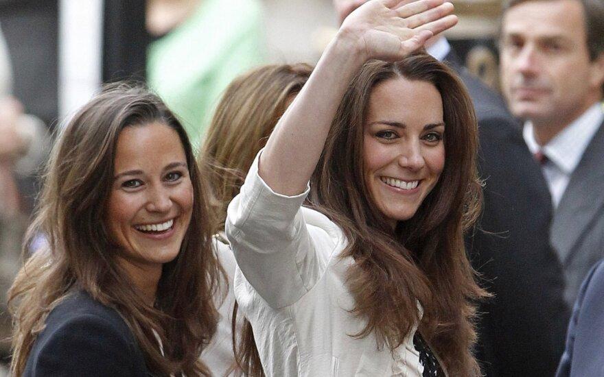 Pippa ir Kate Middleton