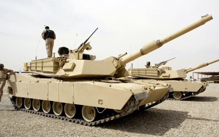Военные США прибудут в Литву с танками Abrams и БМП Bradley