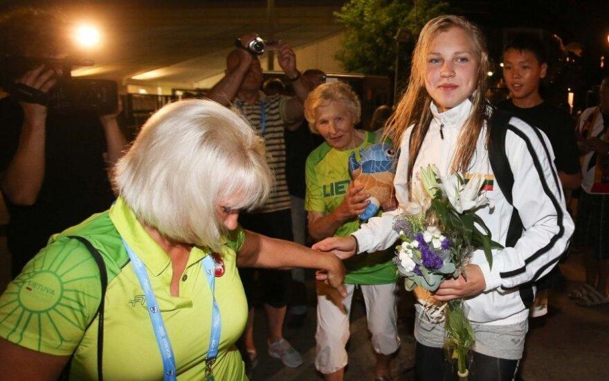 Рута Мейлутите вернулась в Литву с чемпионата в Барселоне