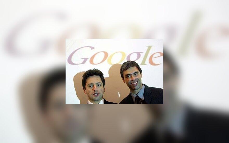 Sergejus Brinas ir Larry Page'as