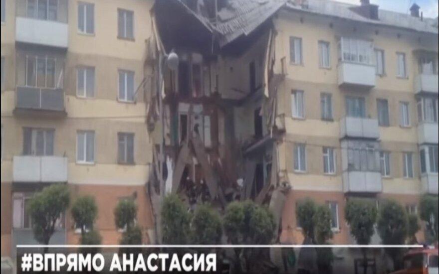 В России обрушился подъезд жилого дома